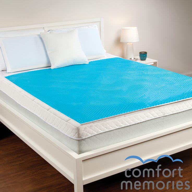 Comfort Memories Blue Bubble Queen Size Gel Mattress Pad
