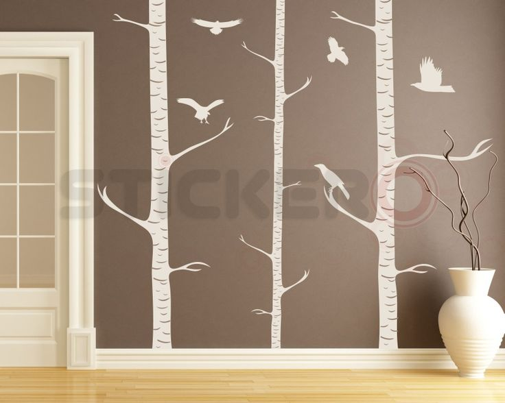Sticker decorativ Mesteceni