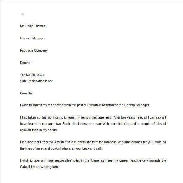 Funny Resignation Letter Sample Lovely 21 Example Of Resignation