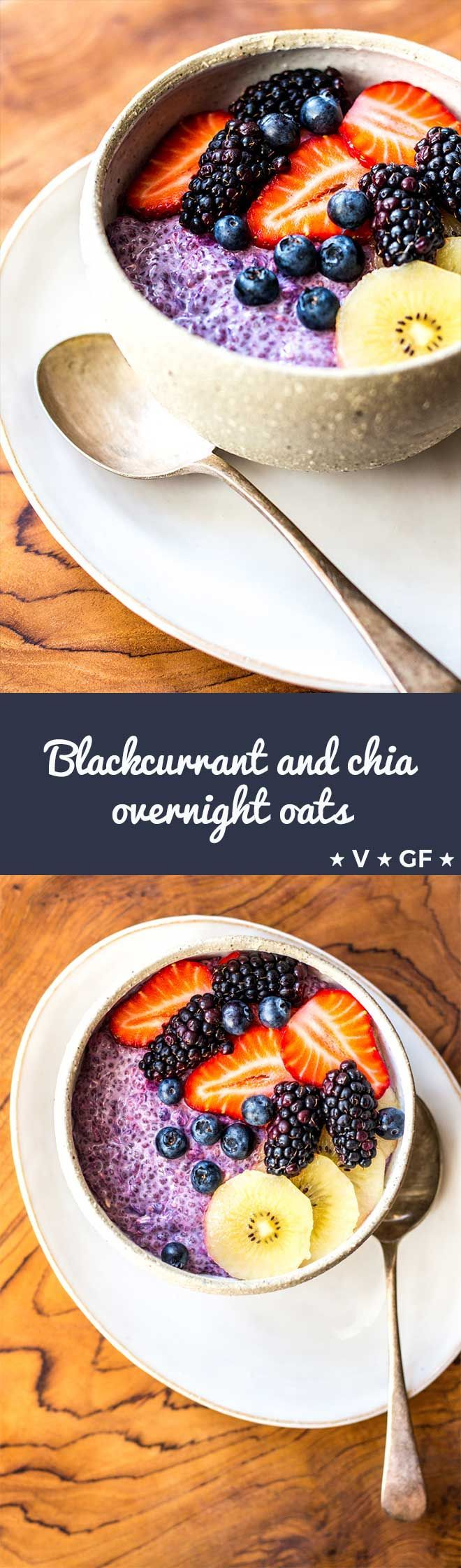 Bring on the berries and enjoy a bowl of antioxidant blackcurrant and chia seed overnight oats for breakfast.  via @quitegoodfood #Antioxidants