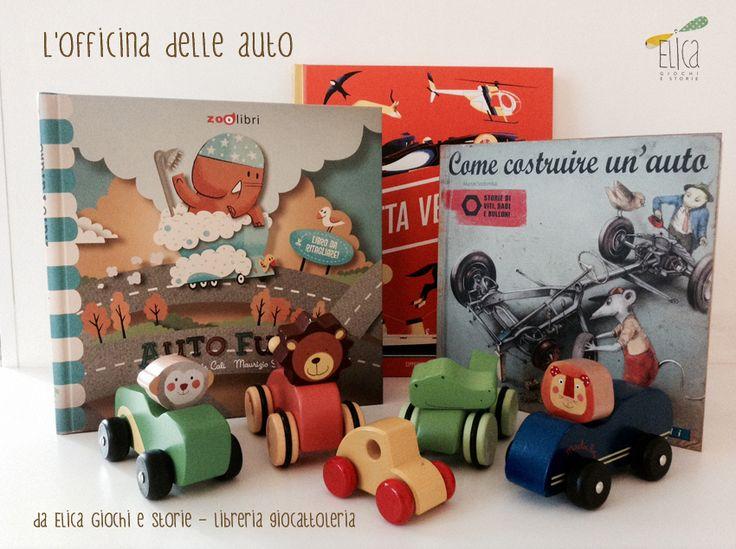 L'officina delle auto...per bimbi coraggiosi! (macchinine in legno Moulin Roty e PW Toys)