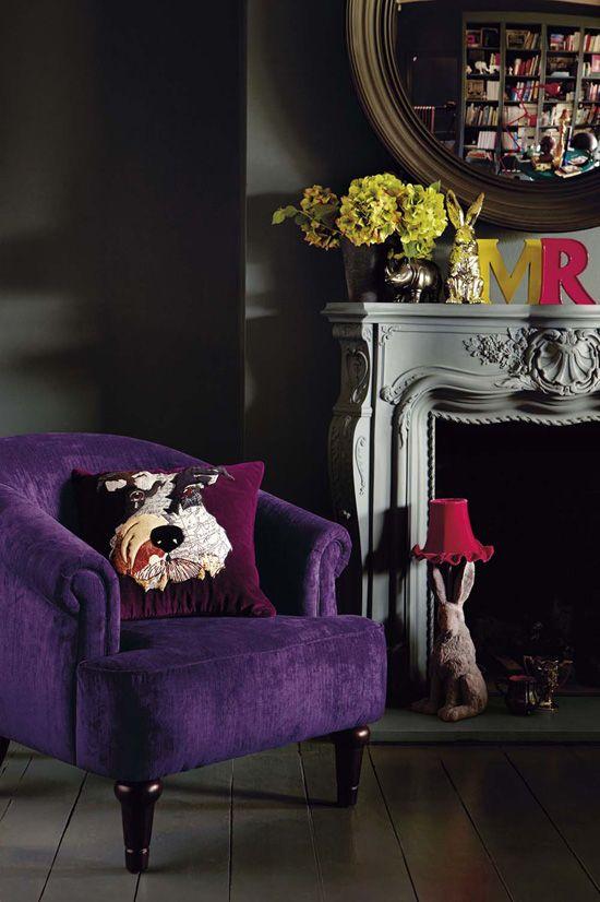 Dark and LuxuriousLas Decoradoras, Purple Interiors, Ahern Interiors, Ace Interiors, Interiors Design, Design Abigail, Deco Living, Ahern Stylin, Abigail Ahern
