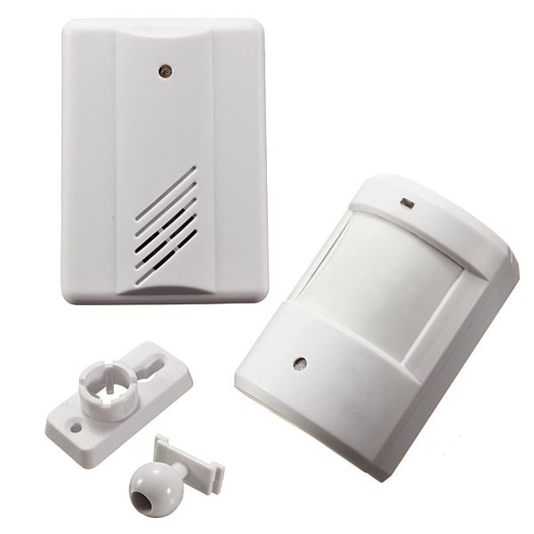 Infrared Wireless Doorbell Alarm System Motion Sensor With Receiver Home Security Systems Wireless Doorbell Alarm System