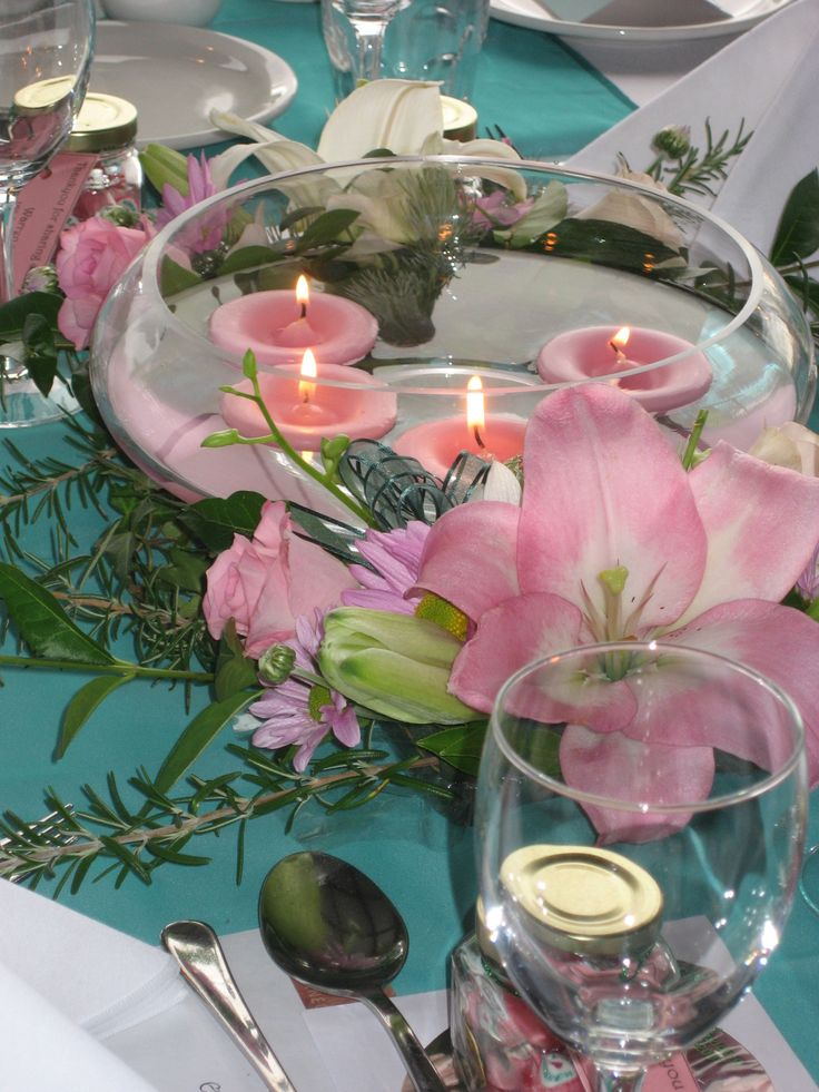 One of our lovely table settings for a wedding at RiverBank Estate