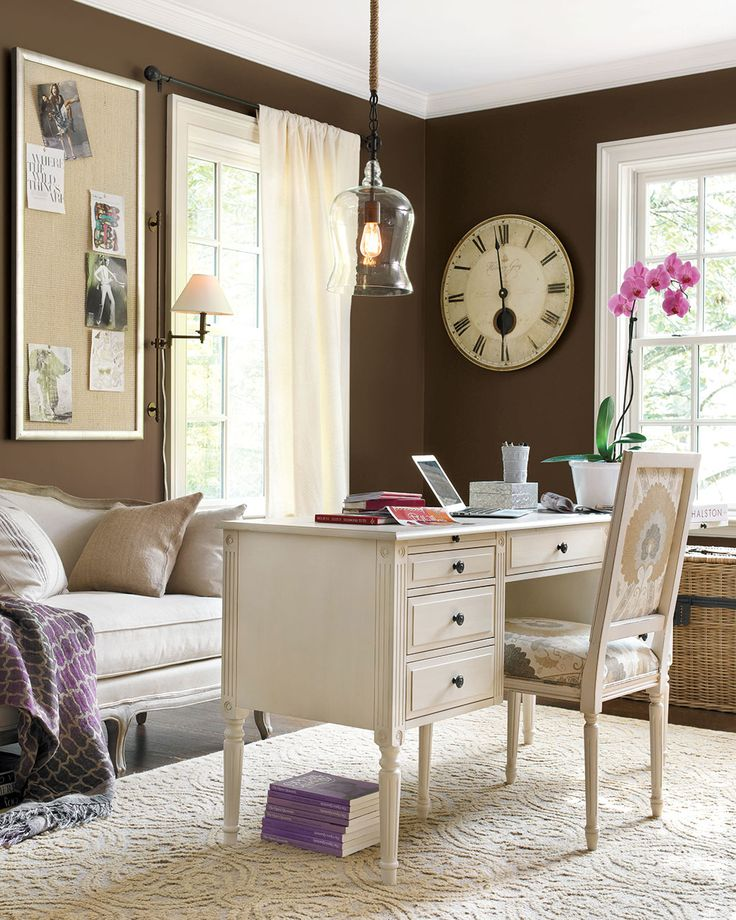 wall paint for brown furniture. dark paint color inspiration for your room home office with brown walls and light furniture wall