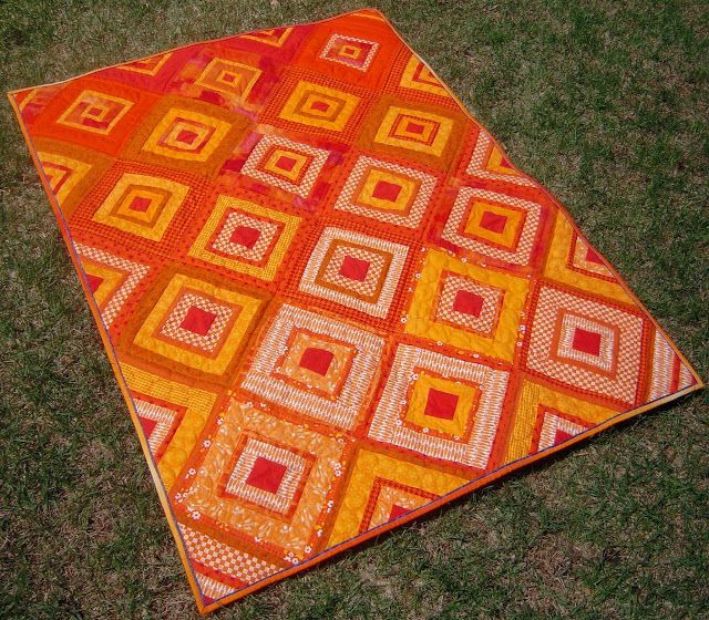 Quilt Pattern Diamonds In The Deep : Always Sewin Somethin!: Tiffany has made an amazing version of Diamonds in the Deep, called ...