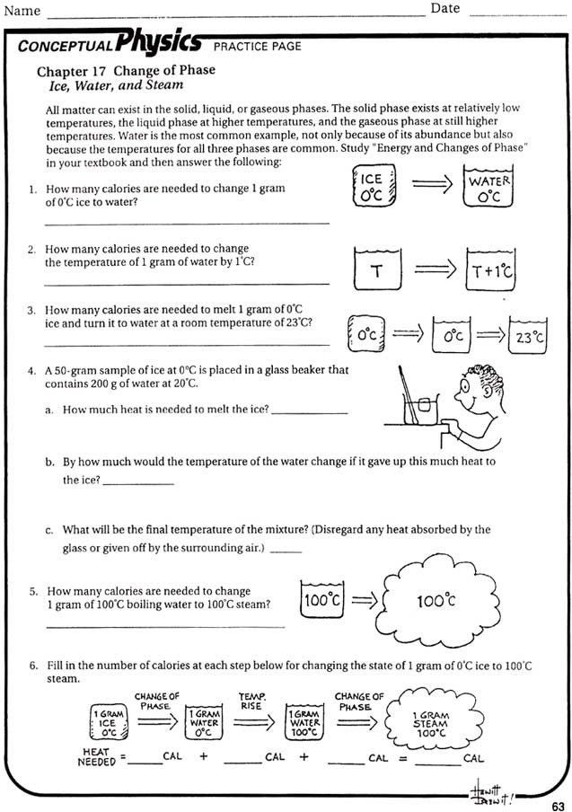 Heating Curve Worksheet Answers Pwhs thermodynamics Home ...