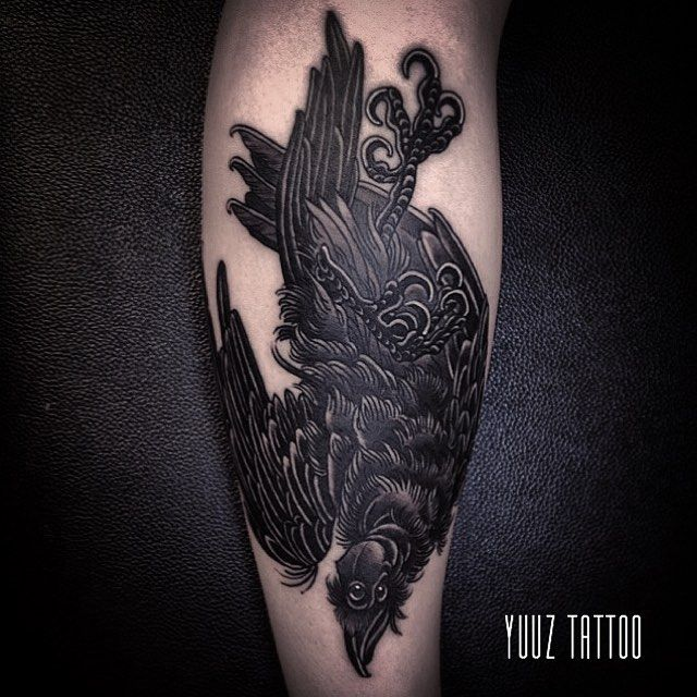 3-eyed raven tattoo by Yuuz.
