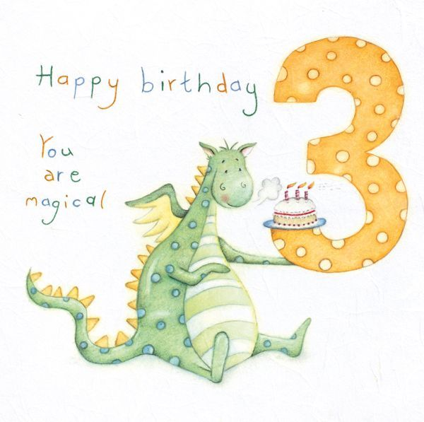 3rd Birthday Cards Dragon Birthday Cards 3rd Birthday You Are Magical Childrens Birthday Card 3rd Birthday Card For Son Grandson Brother Birthday Cards For