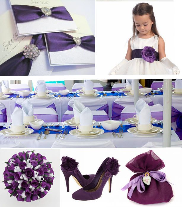 Purple Wedding Colour Theme
