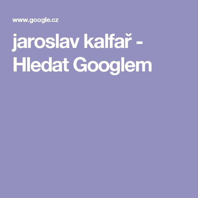 jaroslav kalfař - Hledat Googlem