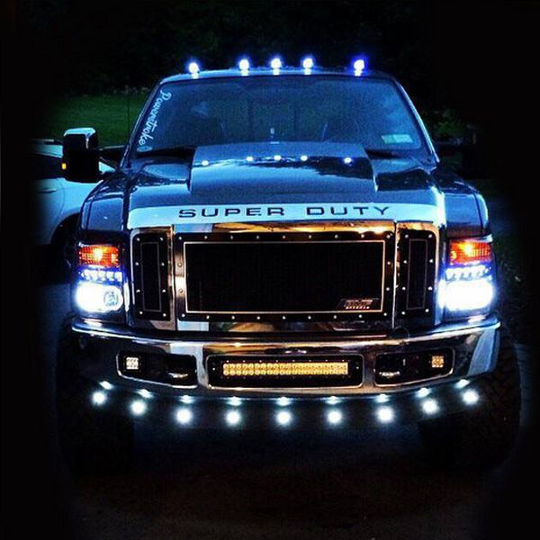 Our Truck Accessories LED tail lights, projector headlights, LED cab roof lights and LED bulbs, & xenon headlights are the best available at vroomstik.com/SMOKED-LED-Cab-Light-Kit-Ford-Superduty-99-16-WHITE-LEDsthash.BqcNyftG3.jpg