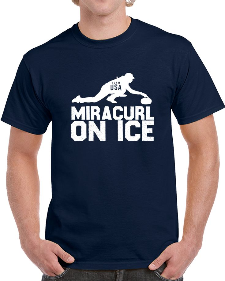 Miracurl On Ice USA Curling Gold Medal Winners Matt Hamilton Olympic 2018 V2 T Shirt