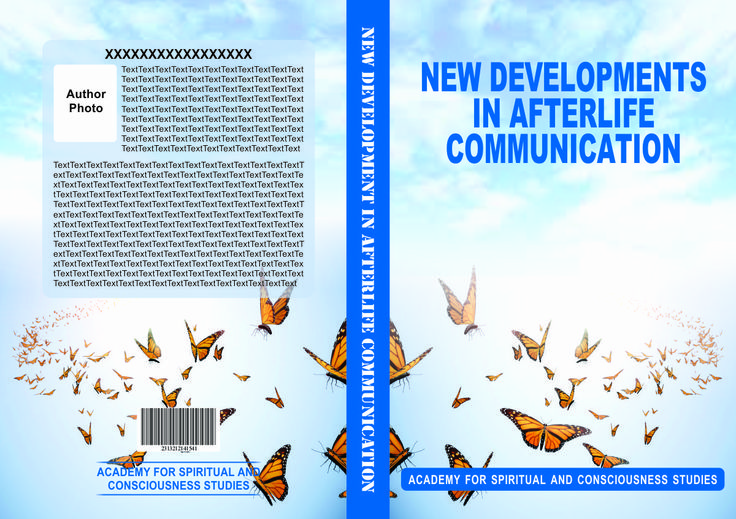 book on afterlife communication needed a design which incorporates butterfly