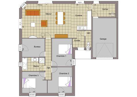 38 best Plan maison plain pied images on Pinterest Home ideas - plan agrandissement maison gratuit