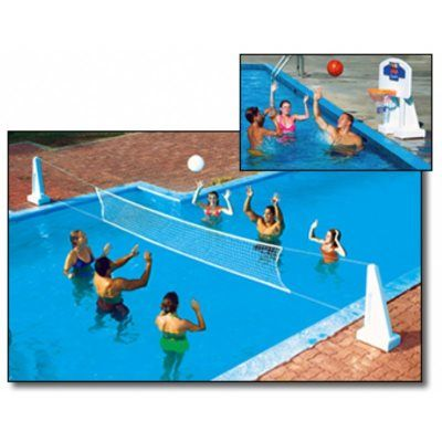 Pool Jam In-Ground Water Volleyball & Basketball Game Combo NT200 129.95