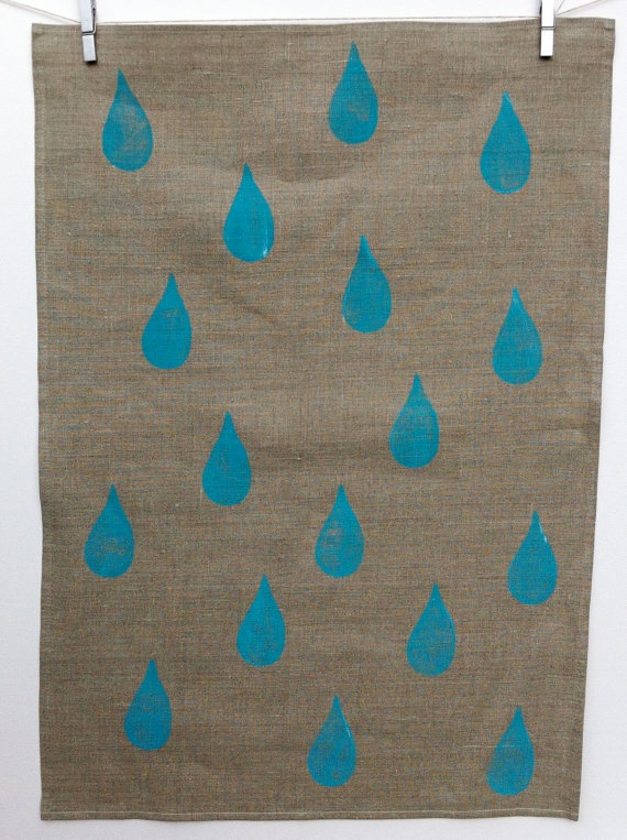 I Said Dry Me  100 Linen Hand Stamped Tea Towel by cborghetto, $19.95