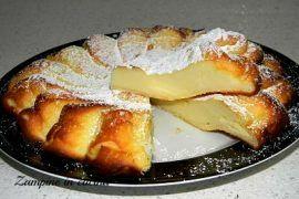 Nata per scherzo , questa torta di ricotta al forno è deliziosa, non vi resta che provarla potete aromatizzarla come preferite arancia , limone davvero buona!