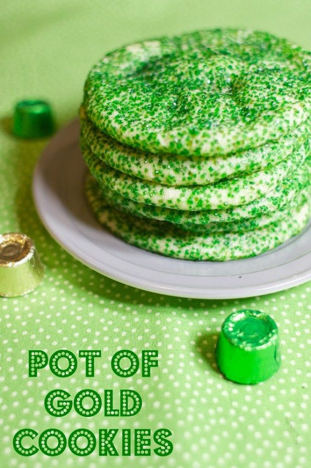 St. Patrick's Day Cookies- Pot of Gold Cookies