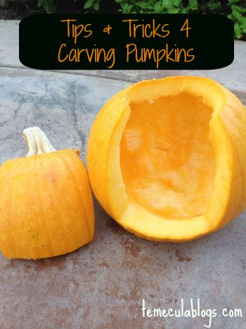 Tips & Tricks for carving pumpkins this October ~ Halloween!