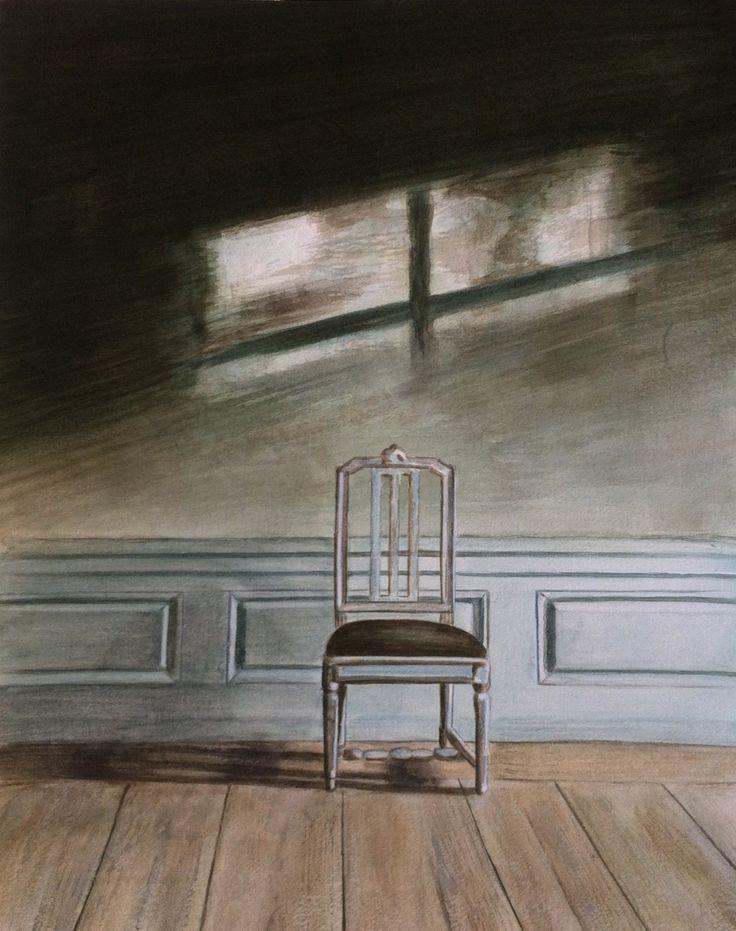 Lonely / watercolor / Joke van der Klink