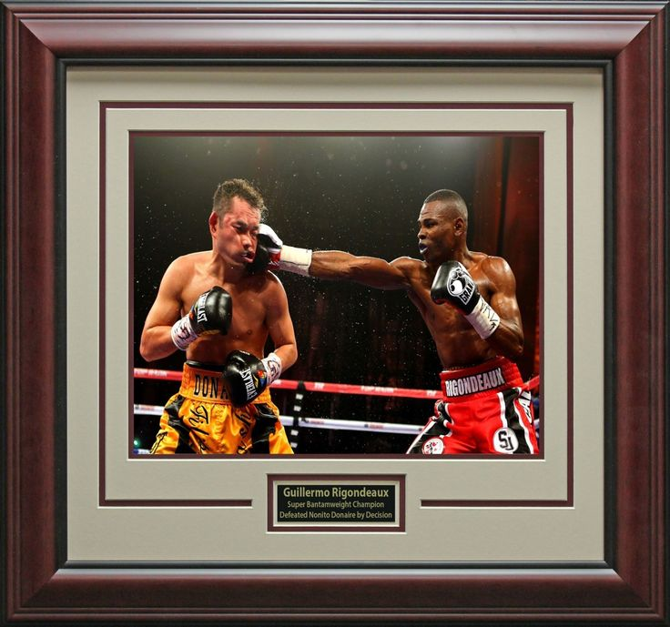 Guillermo Rigondeaux Defeats Nonito Donaire Framed Photo - Signature Royale