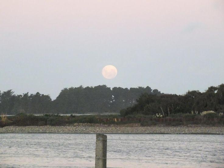 Full moon rising over Waikouiti