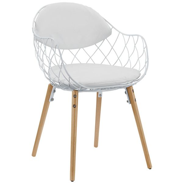 Basket Metal White Dining Chair - Overstock™ Shopping - Great Deals on Modway Dining Chairs