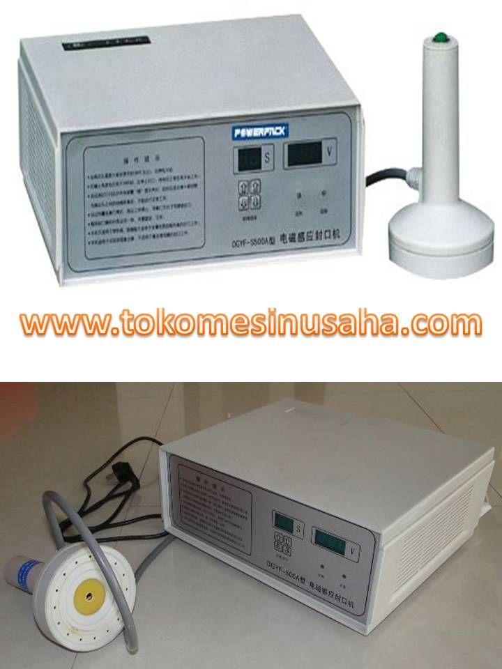 Mesin Induction Sealer adalah mesin yang digunakan untuk merekatkan segel plastik pada tutup botol sehingga botol akan lebih rapat dan isi tidakm akan terkontaminasi udara dari luar Spesifikasi : Tipe : DGYF – 500 Daya : 110V, 220 V/ 50-60 Hz Power : 500 W Kapasitas : 12 – 30 botol/ menit Dimensi : 26,5 x 27 x 10 cm Berat : 4 Kg Diameter cup : 1 – 7 cm
