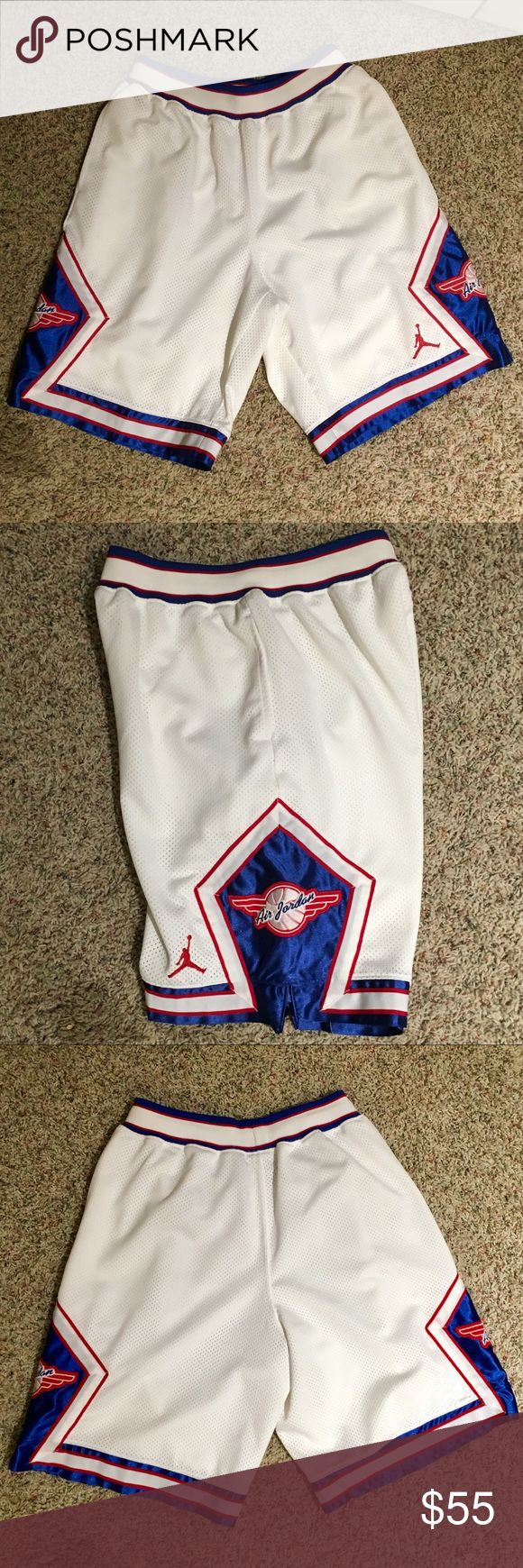 RARE JORDAN B-BALL SHORTS RARE - HARD TO FIND JORDAN BBALL SHORTS. KIDS XL BUT FITS A MENS SMALL. EXCELLENT CONDITION- WORN MAYBE ONCE Jordan Shorts Athletic