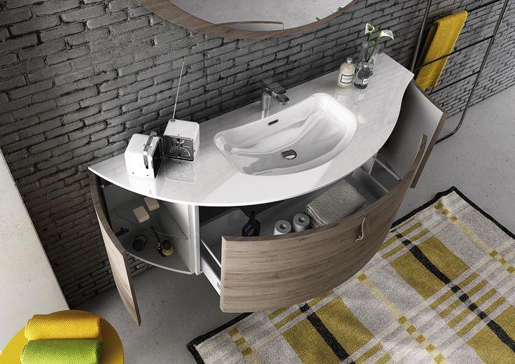 Mobile da bagno moderno Freedom 01 di Legnobagno www.legnobagno.it