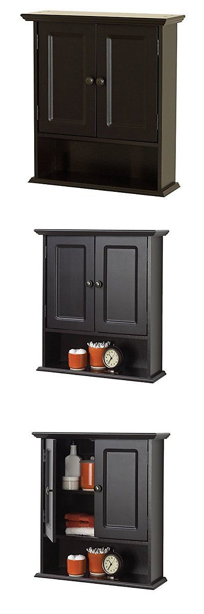 Bath Caddies and Storage 54075: Zenna Home 9918Cha, Collette Wall Cabinet, Espresso New -> BUY IT NOW ONLY: $82.89 on eBay!