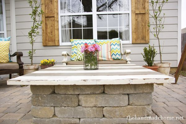 35 best images about fire pit ideas on pinterest for Build your own patio table