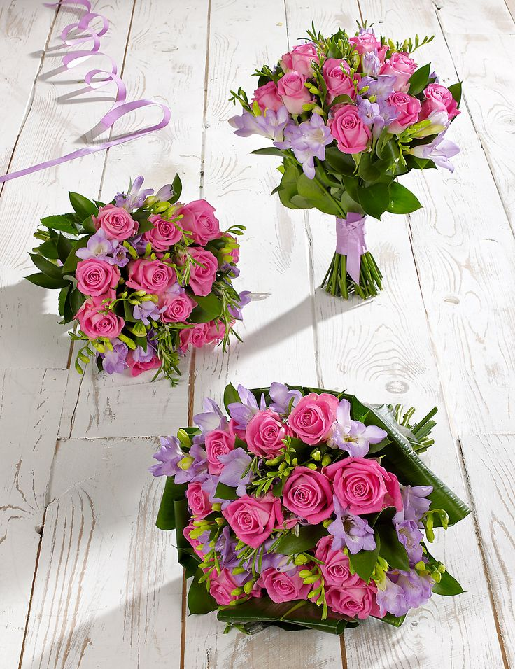 Pink & Lilac Wedding Rose & Freesia Collection 1 | M&S