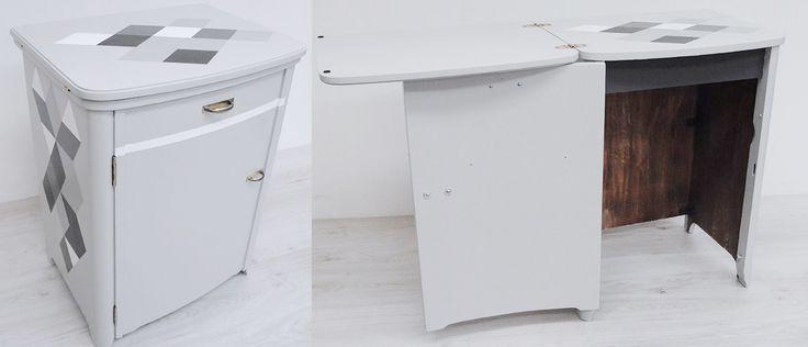 Meuble de machine à coudre en mode bureau par ATELIER D'éco SOLIDAIRE