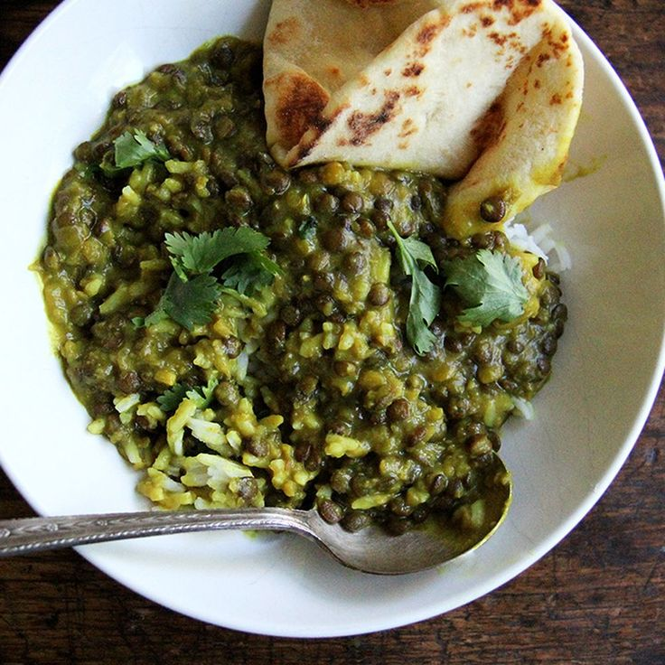 Curried Lentils with Coconut Milk recipe on Food52 - I really liked these, kids definitely did not. Maybe a little too salty for them.