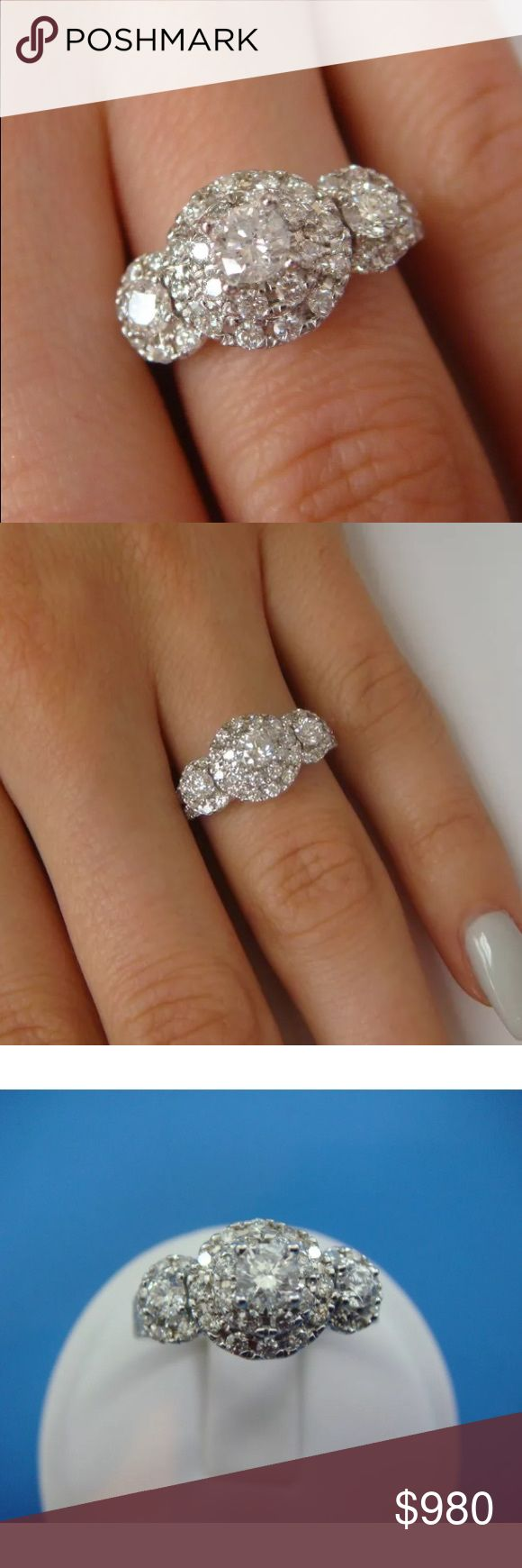 Gorgeous 1.10 carat 14k diamond halo ring Gorgeous 1.10 carat 14k diamond halo ring! High quality diamonds, comes with appraisal! Jewelry Rings