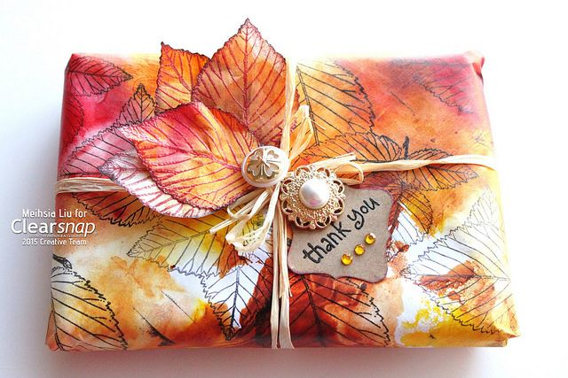 Meihsia shared a beautiful Autumn gift wrapping project featuring Rollagraph and…