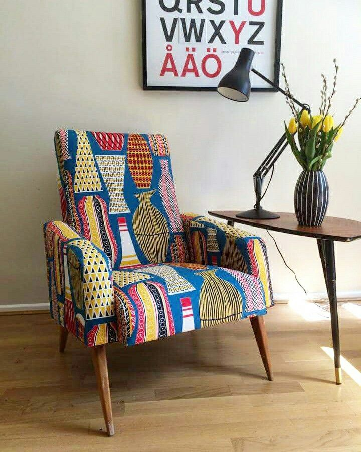 A French Vintage Cocktail Chair That I Reupholstered In Sanderson Hayward  Fabric. One Of My