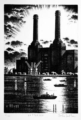 John Duffin - Battersea (etching)