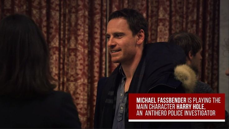 """Michael Fassbender on the set of """"The Snowman"""" upcoming 2017 film"""