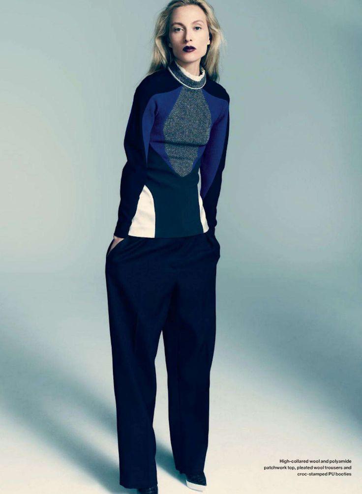 british cool: liisa winkler by jean-claude lussier for elle canada september 2012
