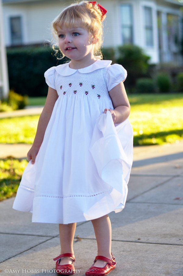 Elegant Heirloom Embroidered Girls White Dress for Special Occasions--Carousel Wear - 3