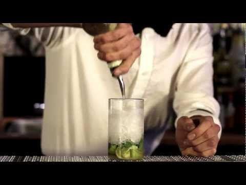 http://www.mojito-drink.dk/  Kort sagt findes der to teorier om hvor mojitoen kommer fra, den ene: Blev opfundet blandt de sorte slaver i det tidlige USA, hvor der blev brugt en forgænger til dagens rom. En anden teori går på en opdagelses-rejsende, der på skibet på vej hjem fra amerika opfandt en drink med mynte, lime, rørsukker og altså datiden...