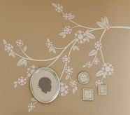 pbkids: Flowers Blossoms, Blossoms Decals, Crafts Ideas, Nurseries Decals, Paintings Trees, Families Trees Wall, Wall Decals, Nurseries Ideas, Girls Rooms