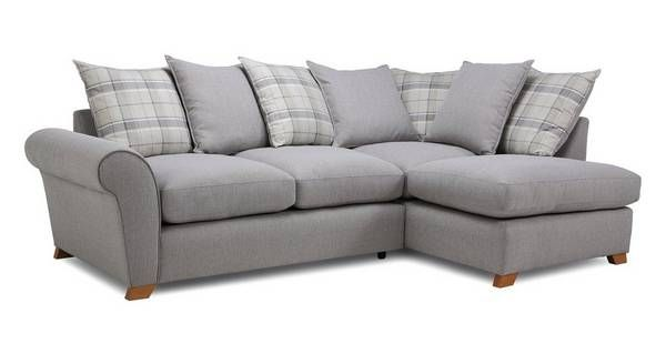 Owen Pillow Back Left Hand Facing Arm Corner Sofa Dfs Grey Corner Sofa Corner Sofa Corner Sofa Bed With Storage