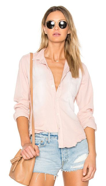 Barry Button Down by Citizens of Humanity. 100% cotton. Front button closure. Chest patch pocket. Distressed detail. Buttoned cuff sleeves. Frayed hem. CITI-WS8...