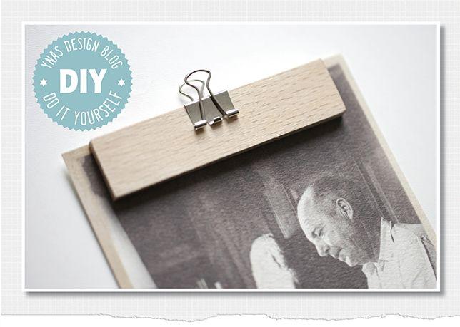 Ynas Design Blog: DIY Bilderhalter | Leisten und Klammern