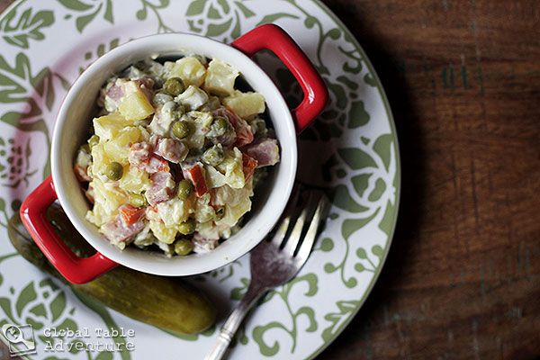 "Russian potato salad ""Olivier"""