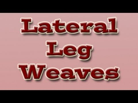 Instead of having your dog weave your legs moving forwards, how about ...